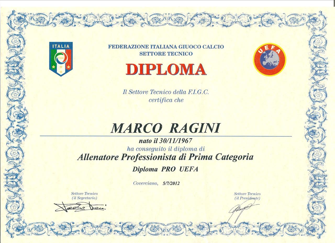 Marco Ragini | Diplomas